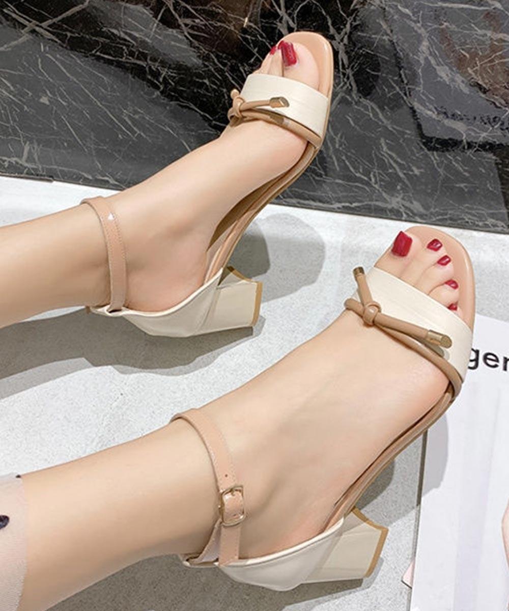 Here is the swag block heels