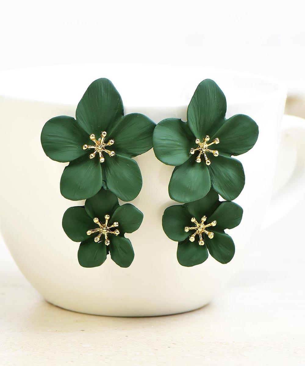 In Style Earrings Green
