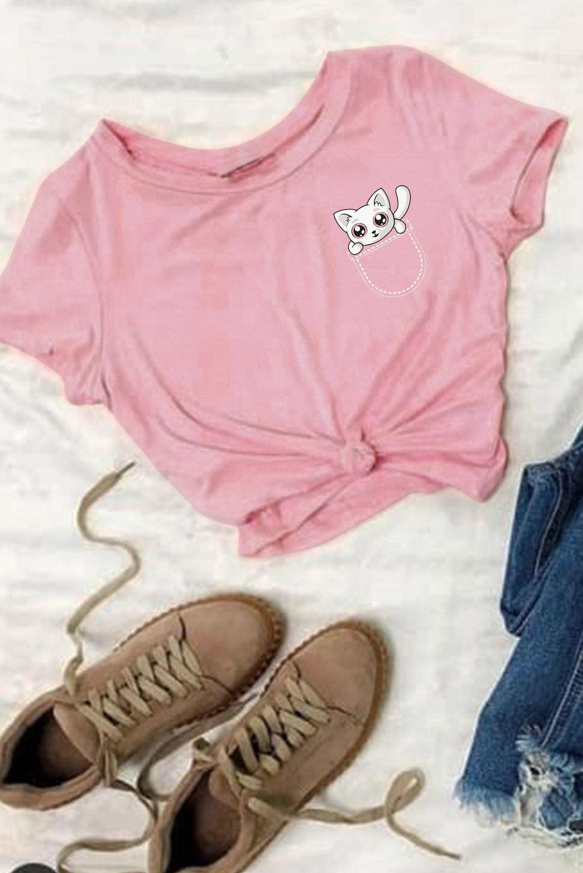 Jeb Mein Billi Boyfriend T-Shirt Pink