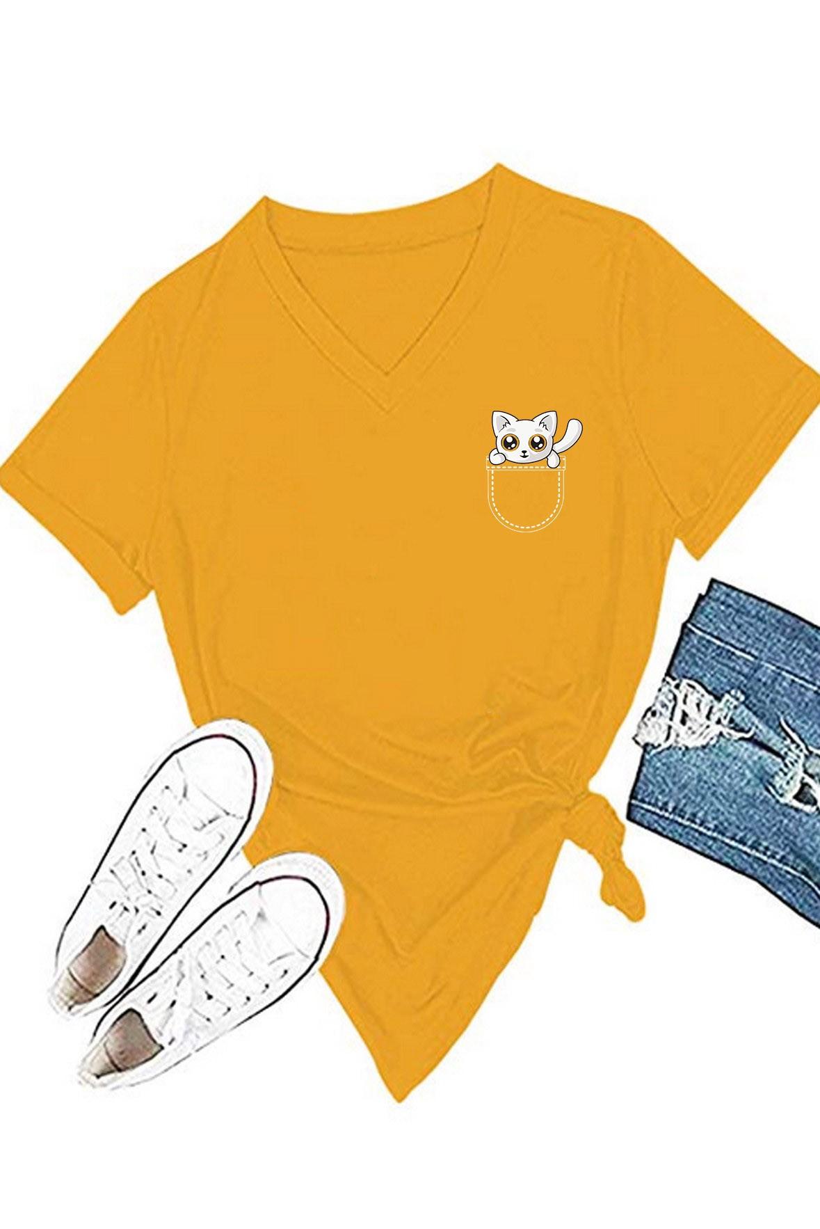 Jeb Mein Billi Boyfriend T-Shirt Mustard