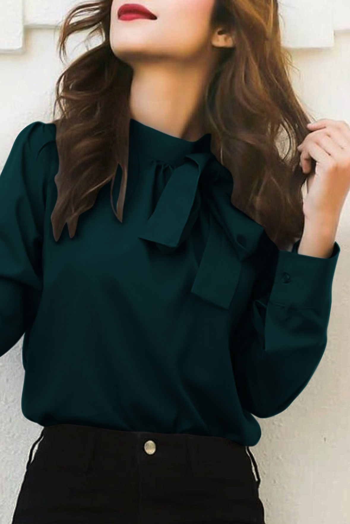 Green bowtie top