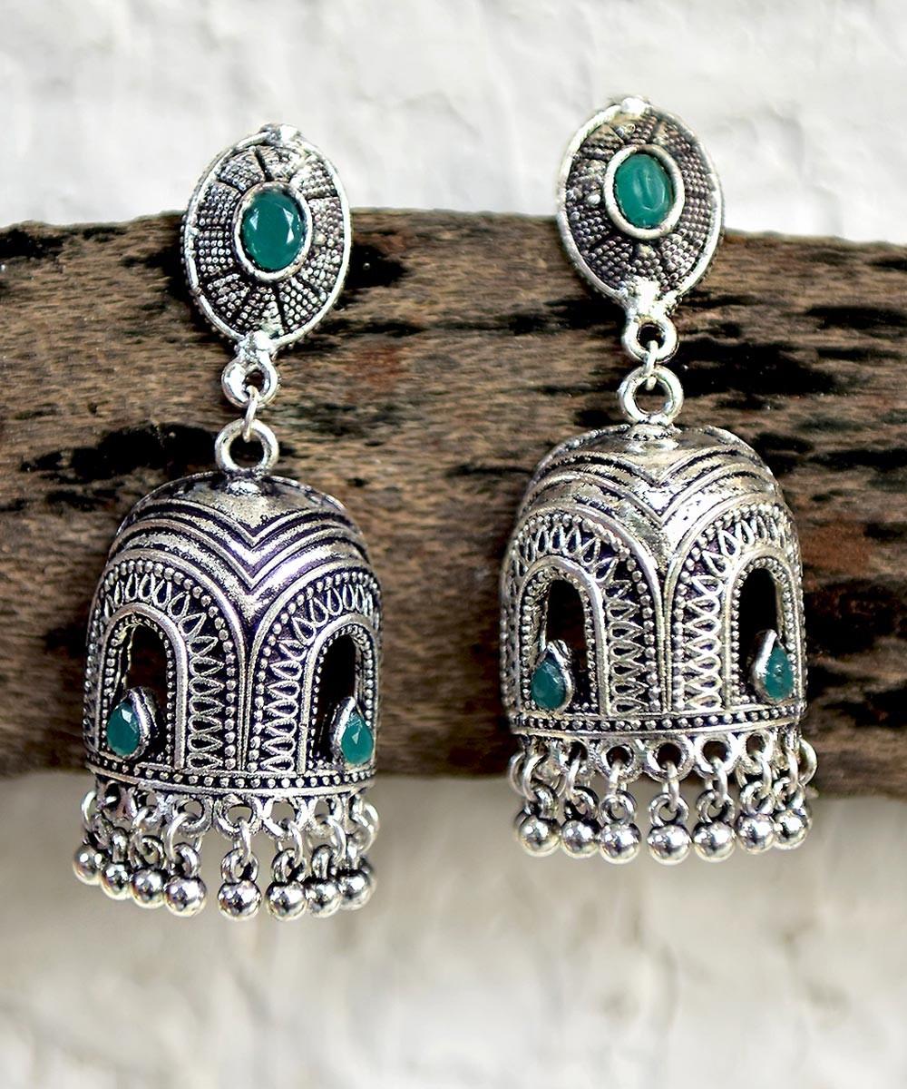 Skyline earrings green