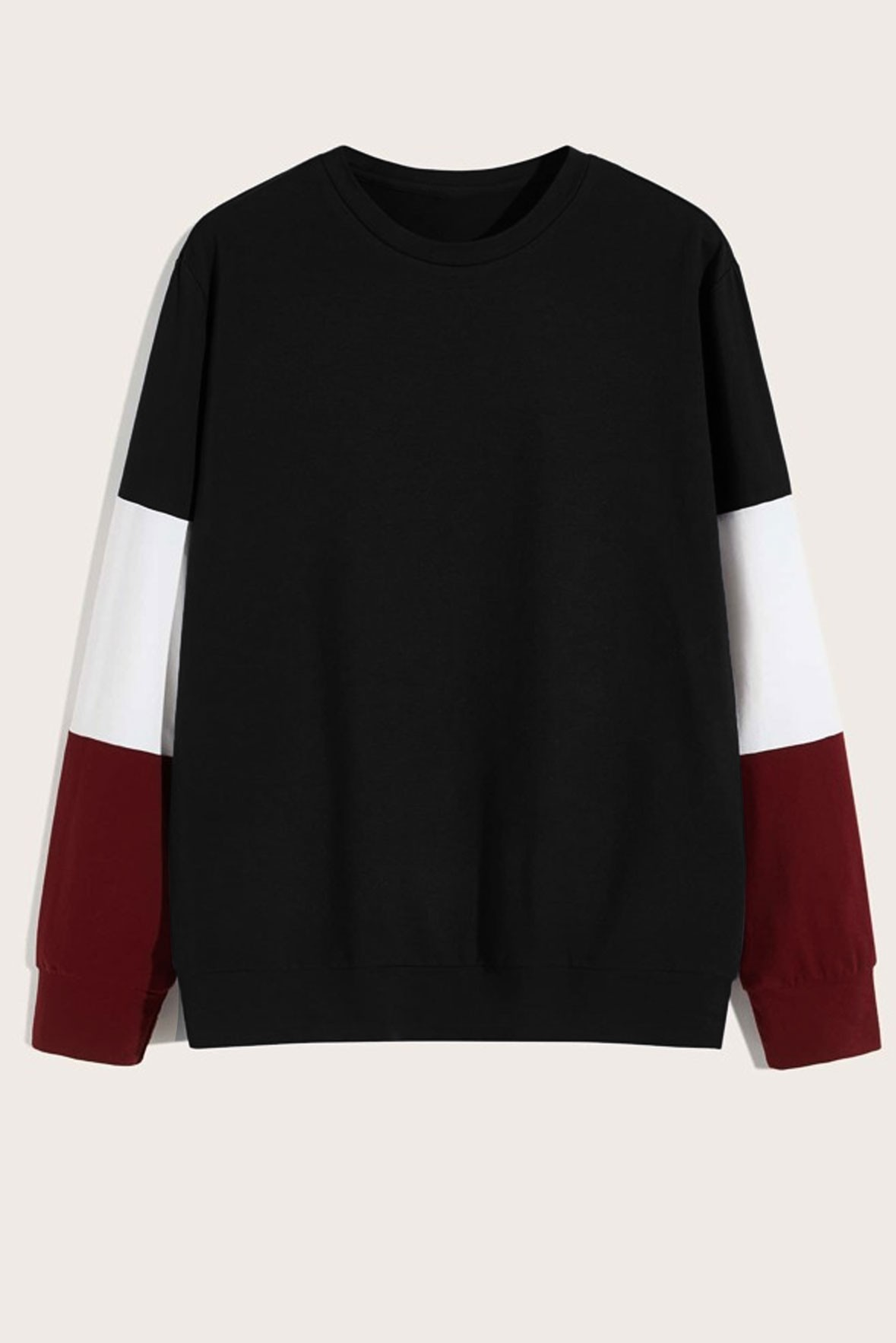 Black white and marsala Sweatshirt