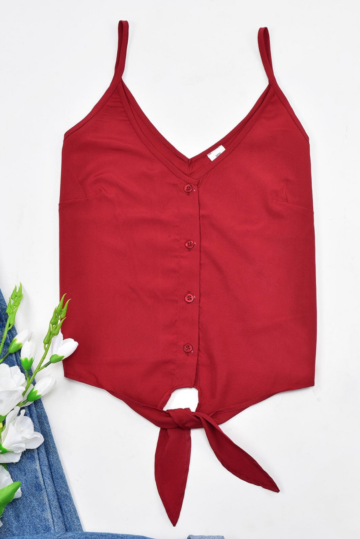 Knotted Red Top