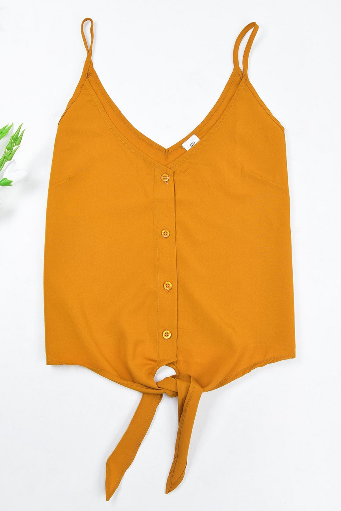 Knotted yellow Top