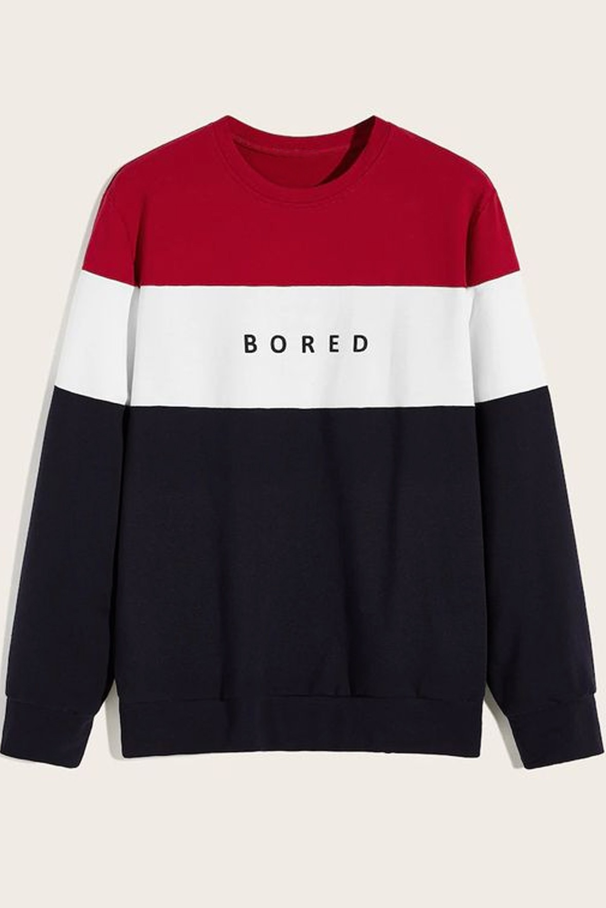 Men Bored Red & Black Sweatshirt