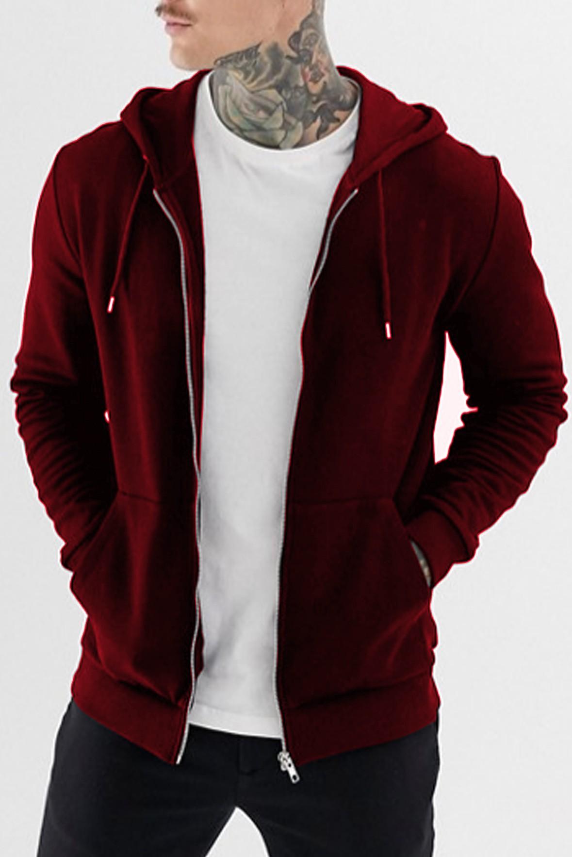 Zip up marsala hoodie