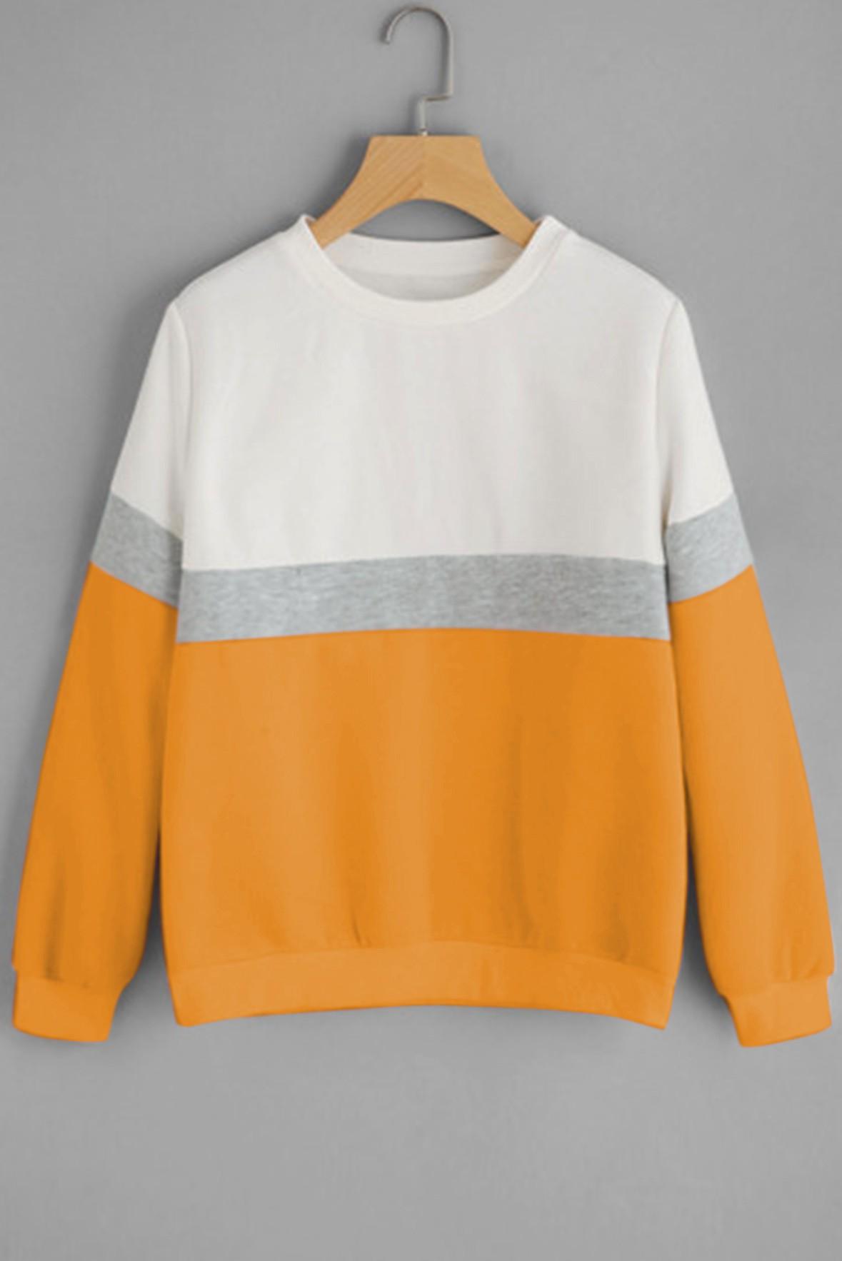 Cozy head sweatshirt mustard