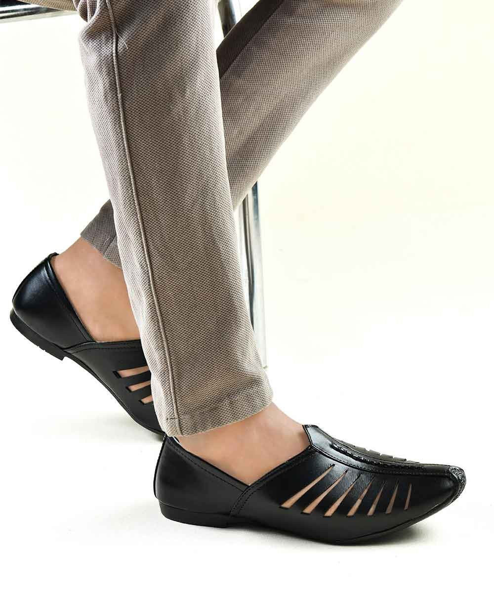 Black Cutout loafers