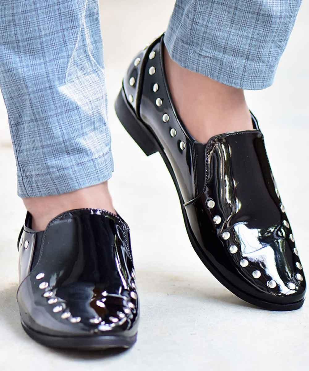 Studded Black casual Shoe