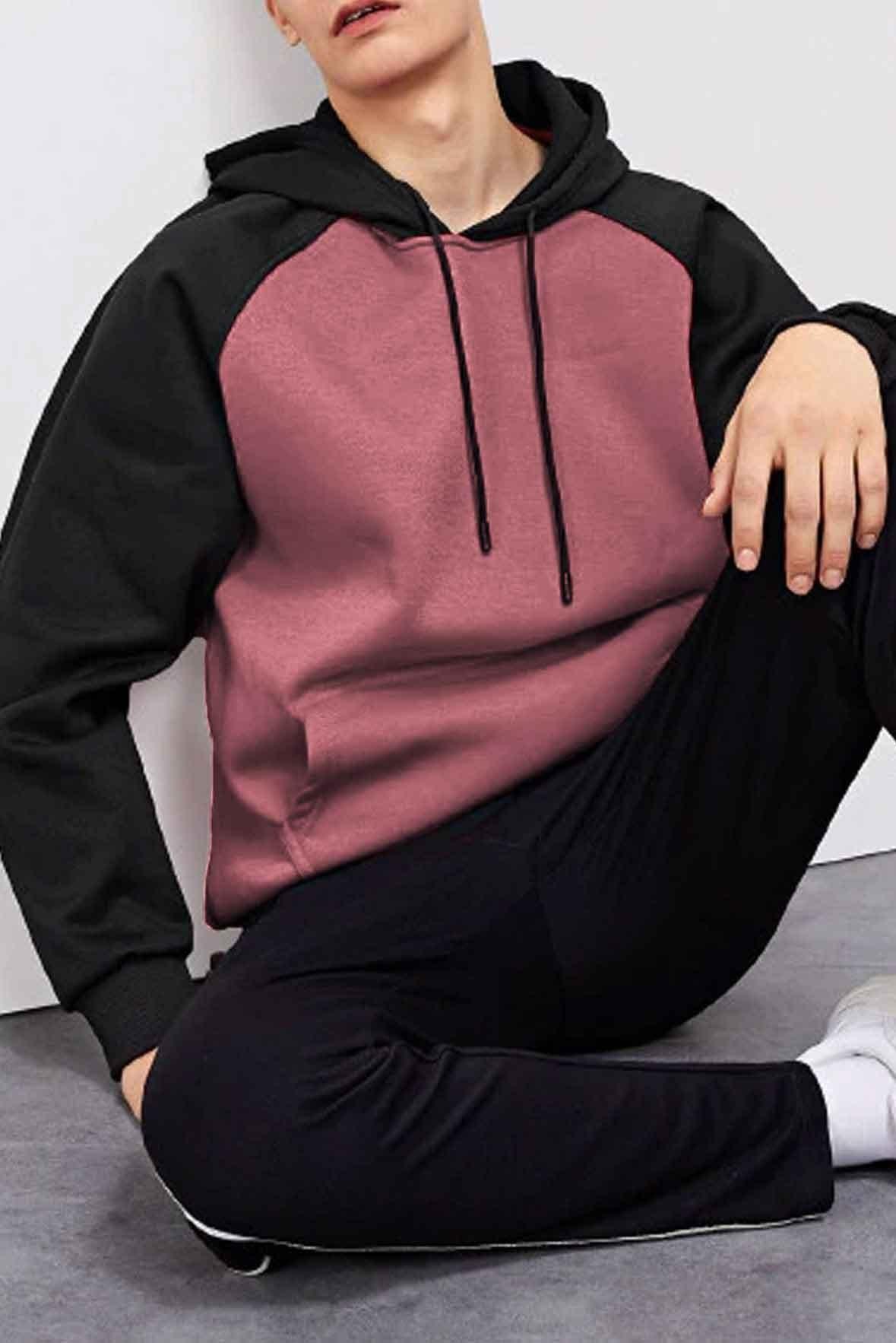 Pink and black hoodie