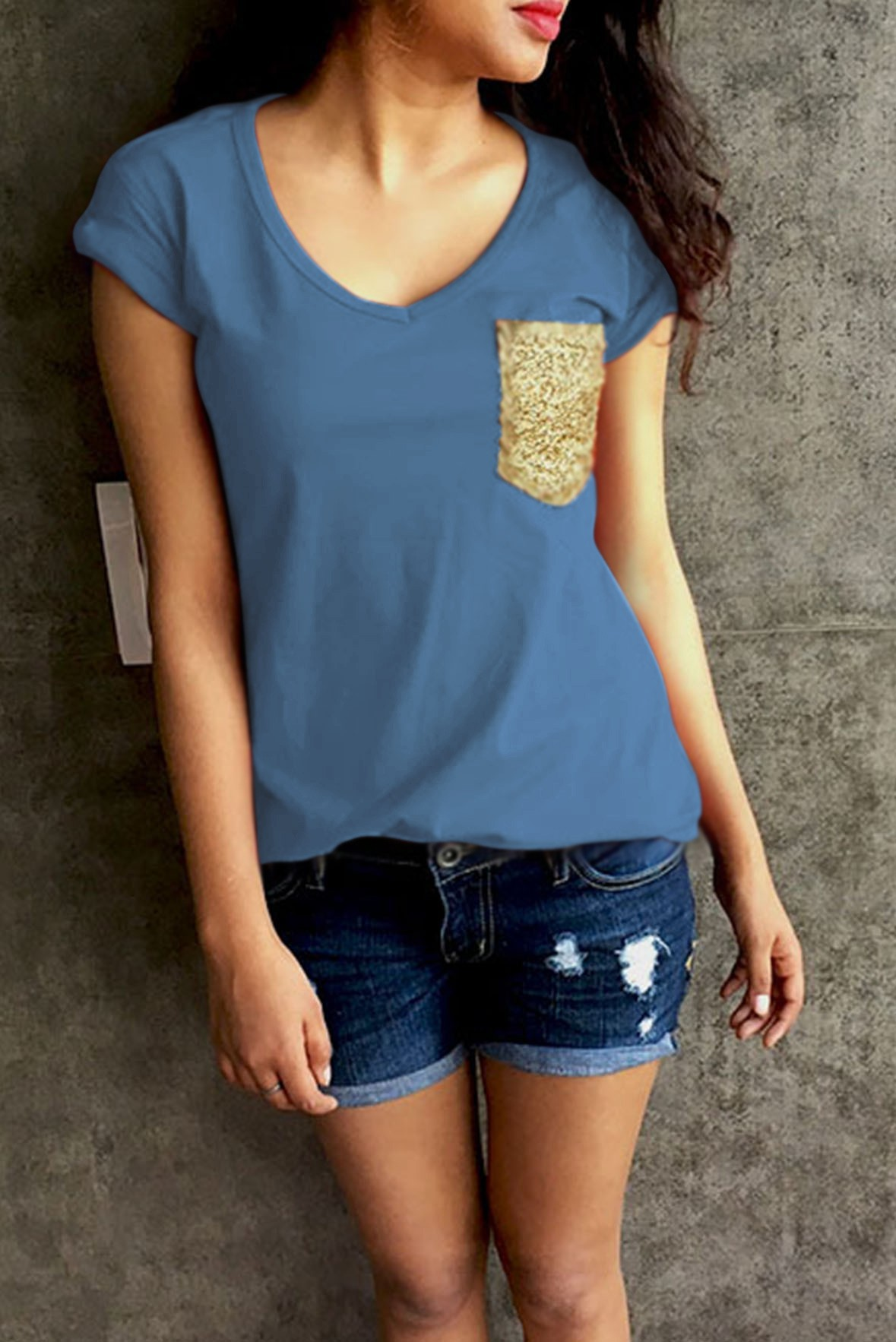 Love Is Beautiful Top Blue