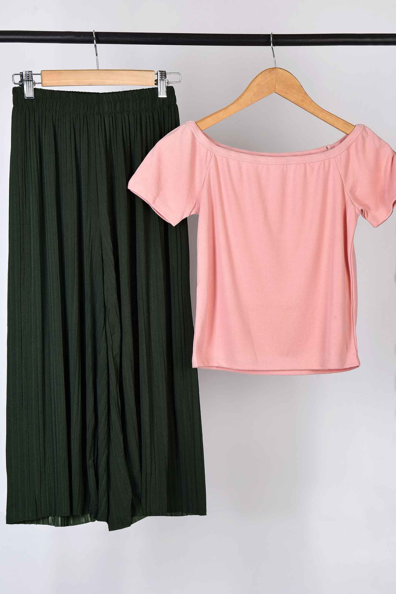Set- Pink top with green trouser