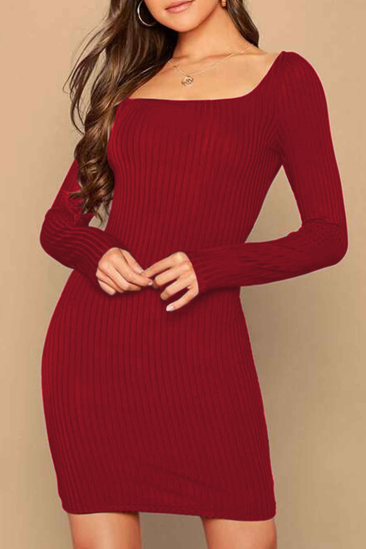 Cozy moment dress Red
