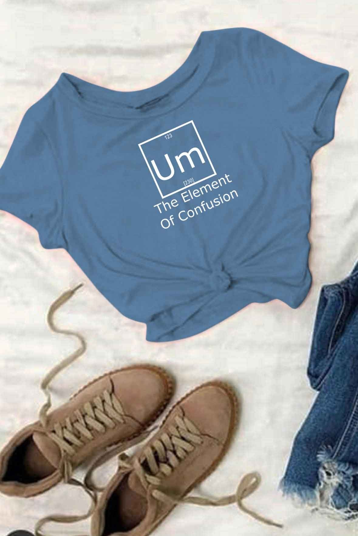 The element of confusion t-shirt Blue