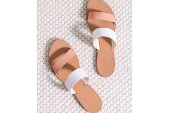 Dual Strap Slip On Flats