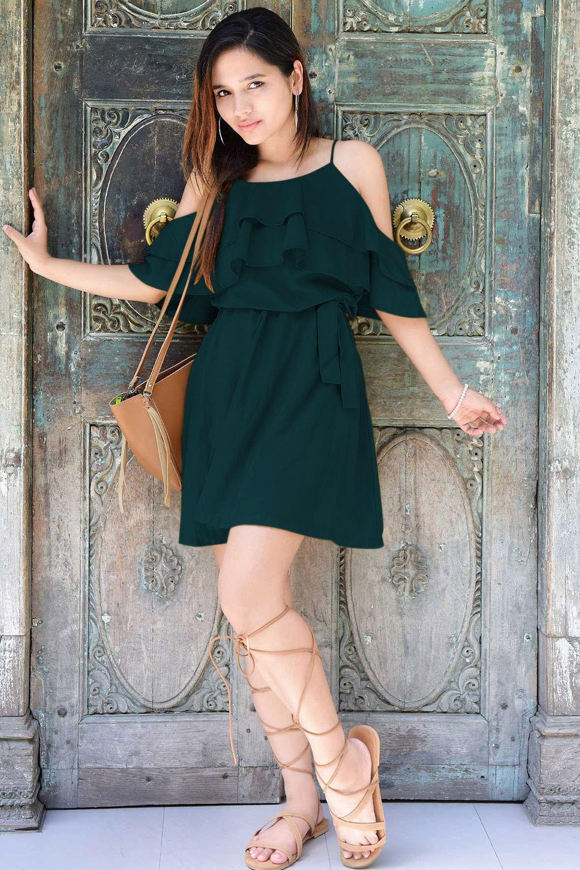 Sunbeams dress green