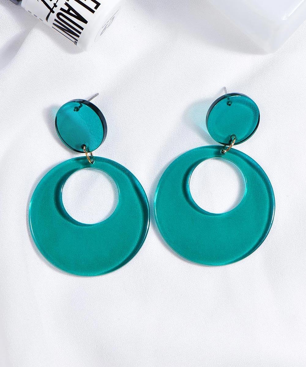 Gaze earrings Green