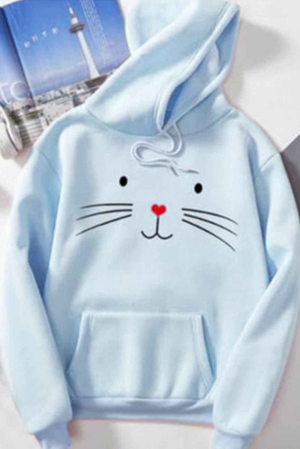 Kitty printed hoodie