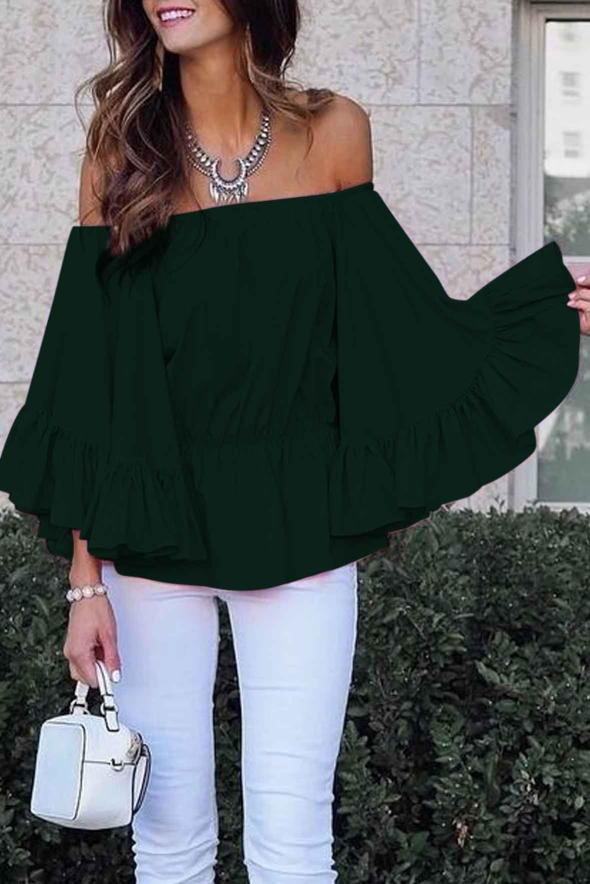 My Softer Side Top Green