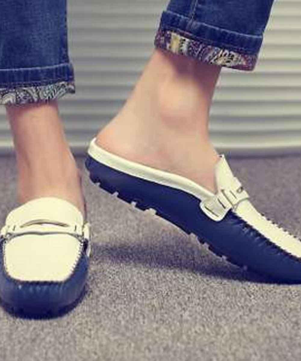 Loafer style slides ( Black )
