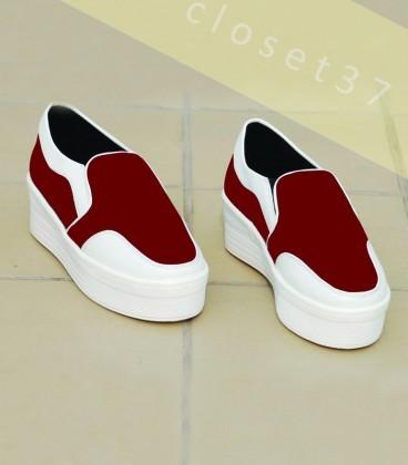 C37-Movie Night Sneakers - Cherry