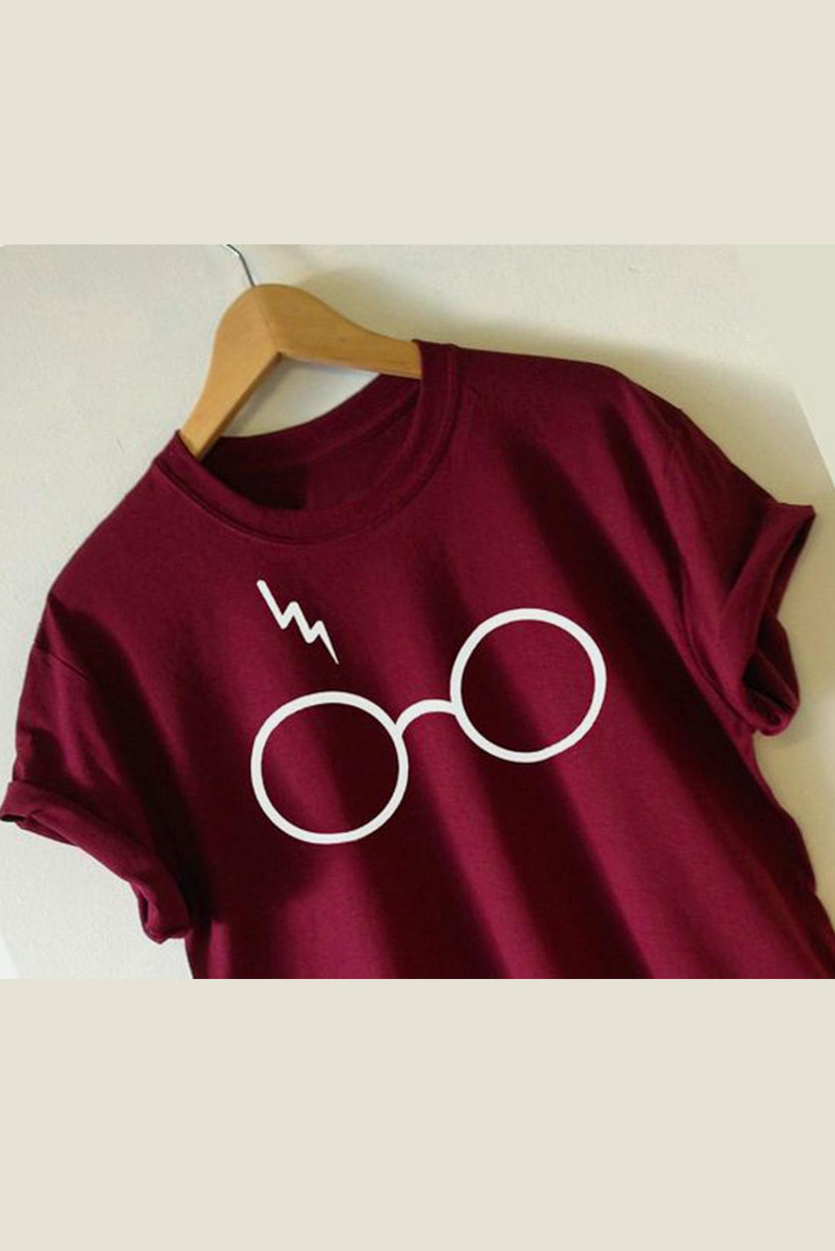 Spectacles t-shirt marsala
