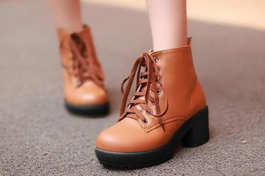 Perfect Laces Boots Tan (Sole Black)