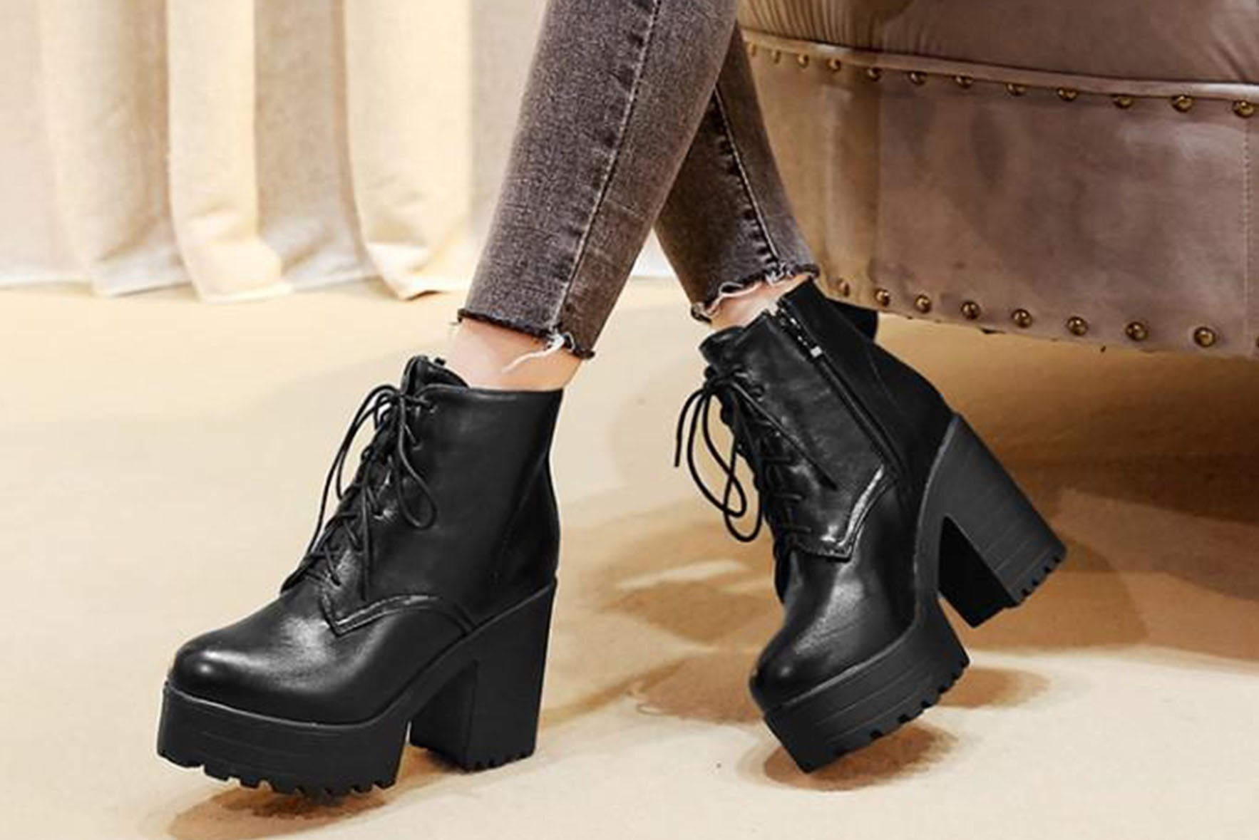 Beautiful Ankle Boots Black