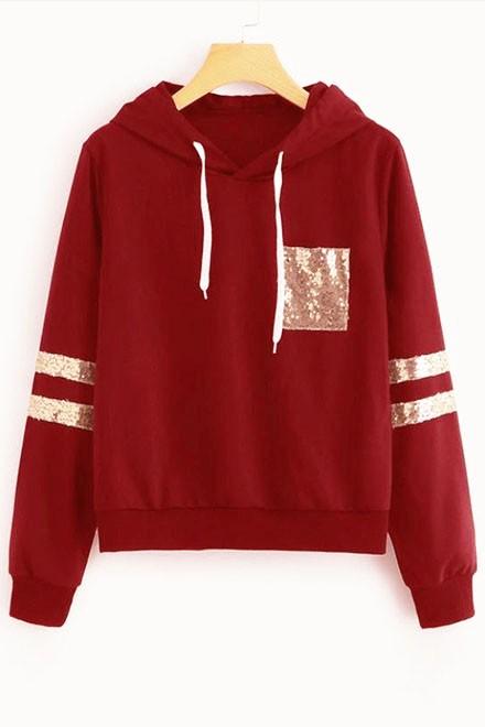 Front pocket hoodie Marsala