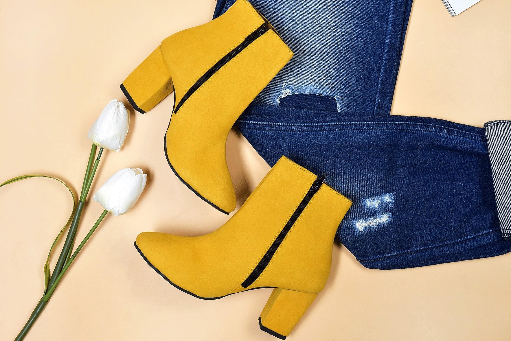 La dolce vita Yellow Boot