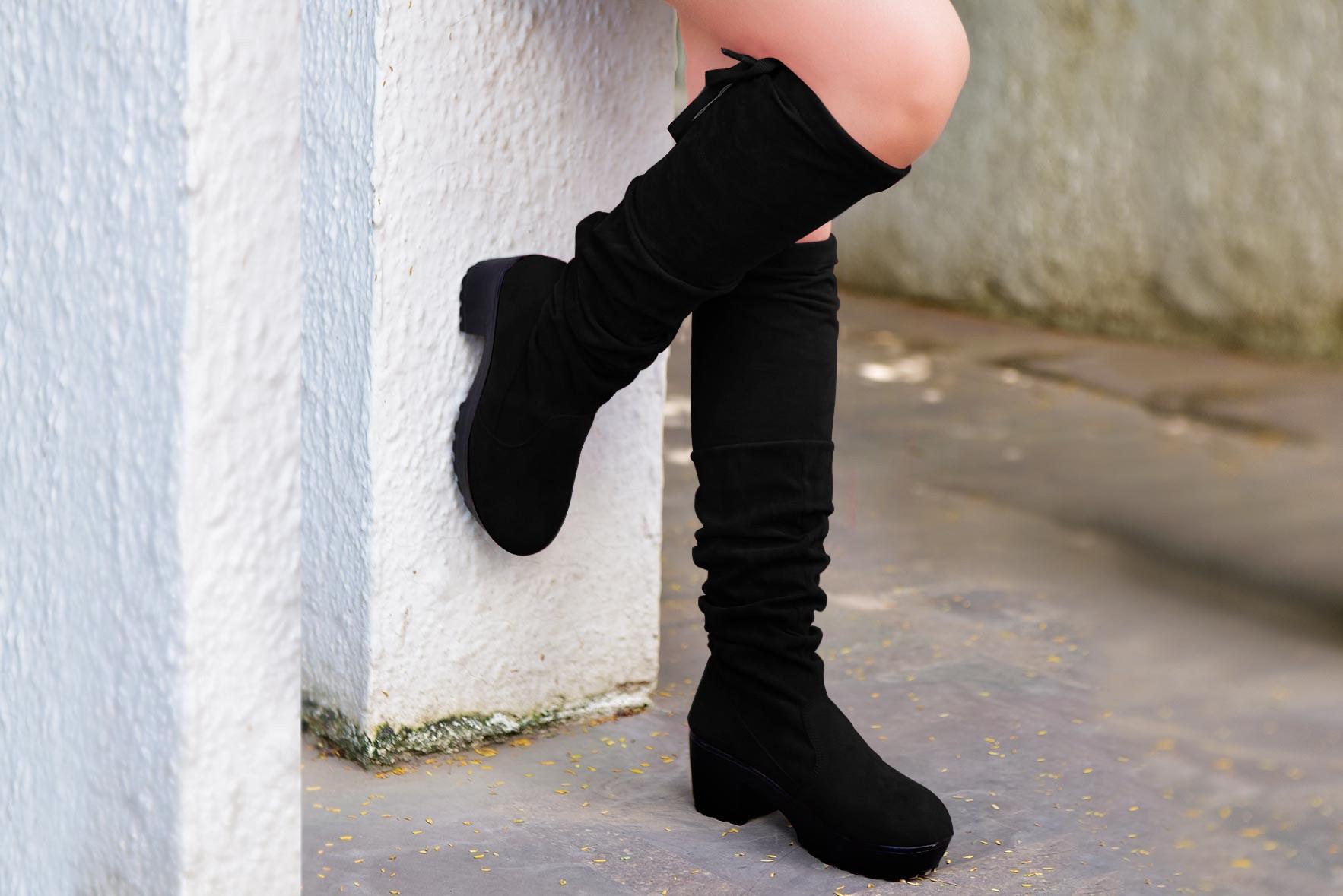 Broadway walk tall boots Black
