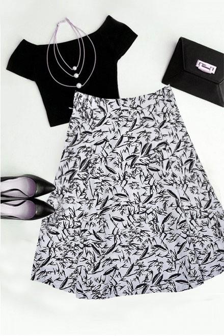 Set: Crop top with poplin skirt