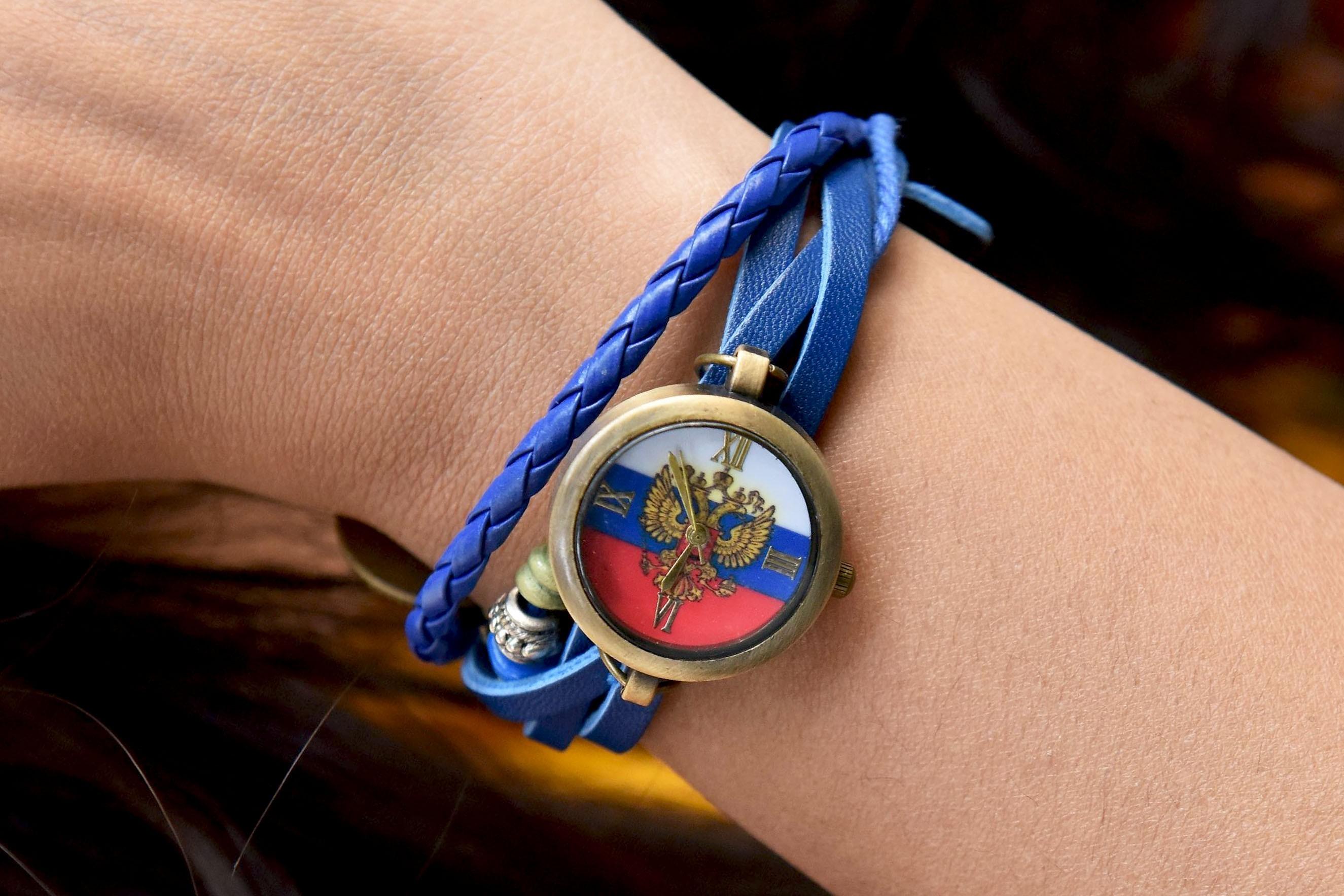 Womens - Blue ruffle watch