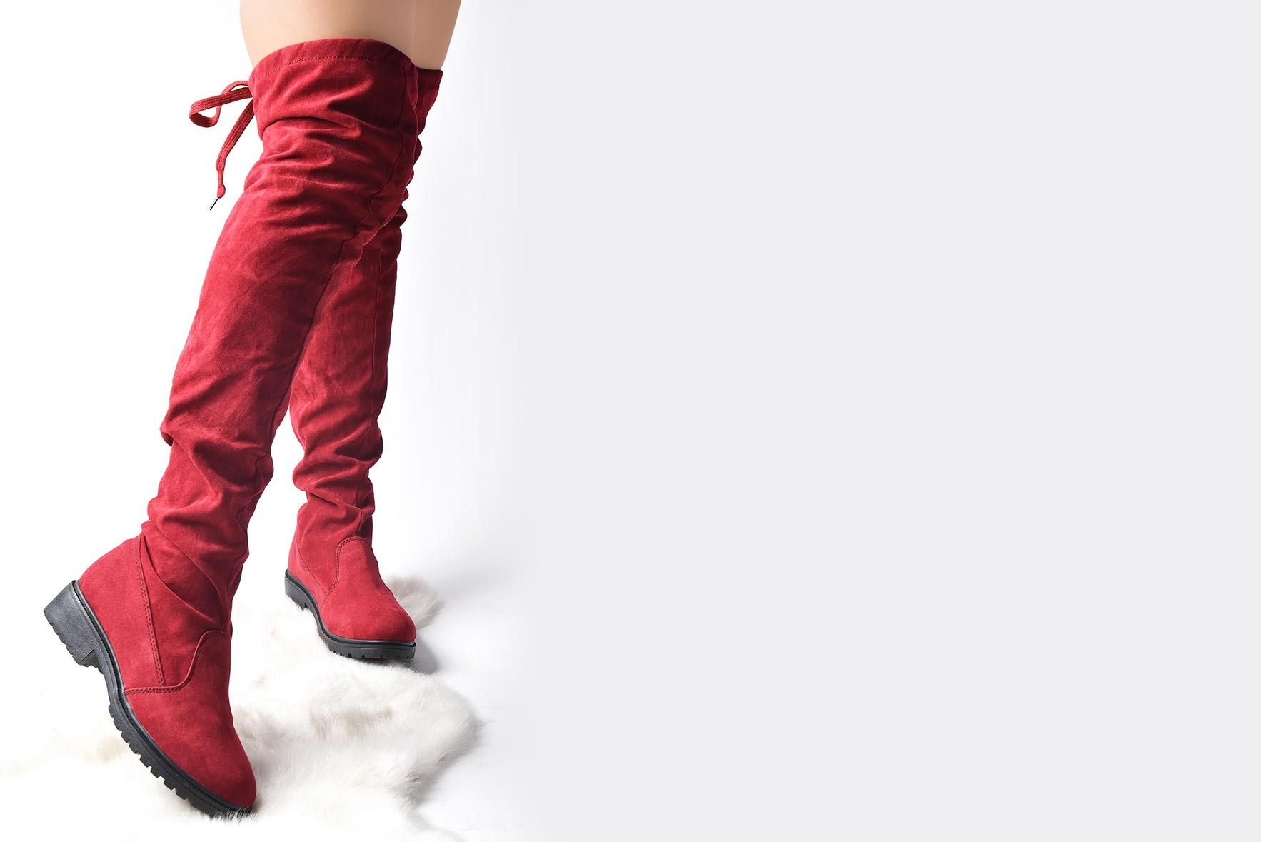 Over the Knee Marsala Winter Boots