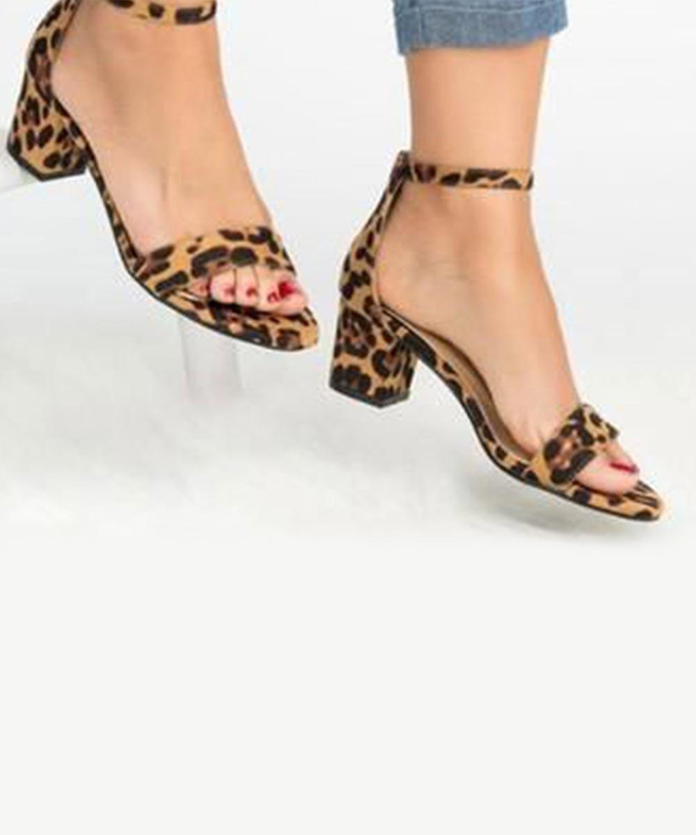 Leopard Printed Jazz Me Up Brown Heels