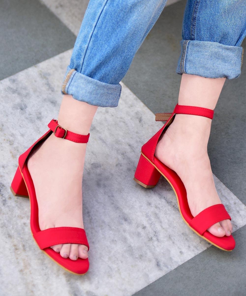 Red hot block heels