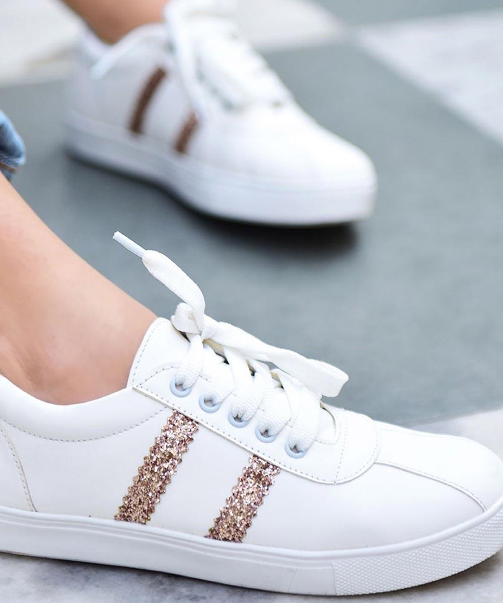 Walk the lane white sneakers