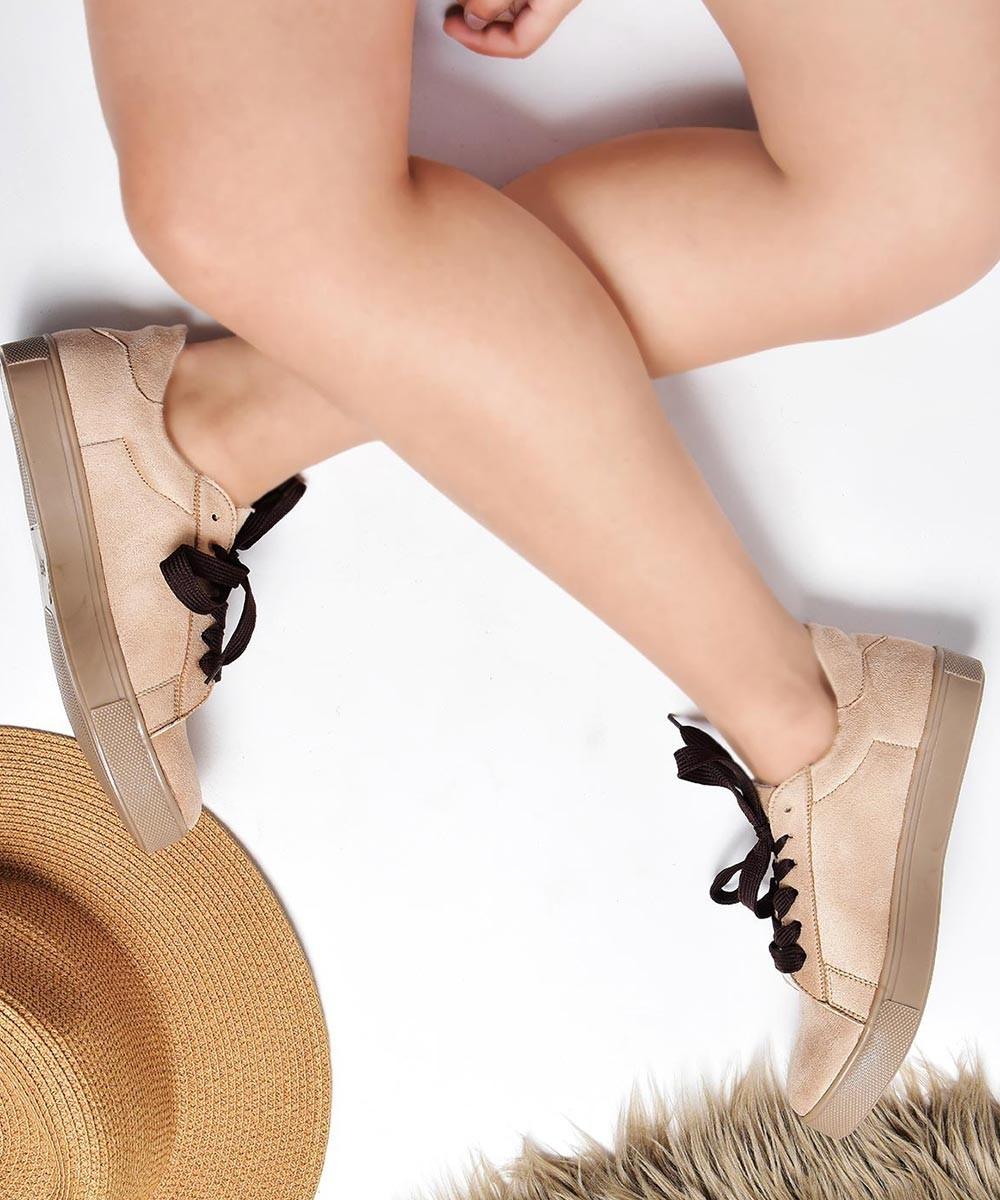 Mocha blush beige sneakers