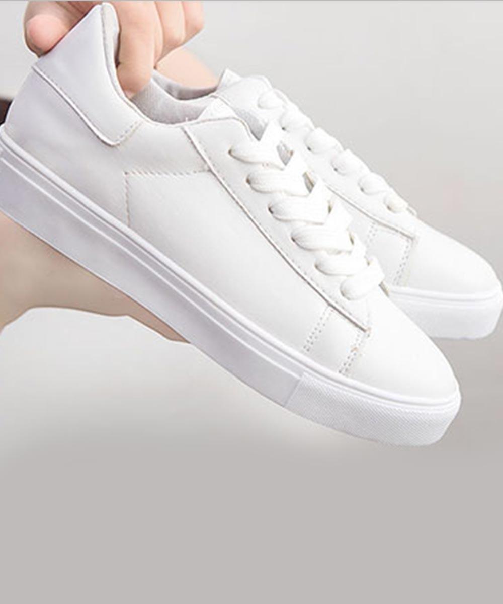 Impressive Accent White Sneakers