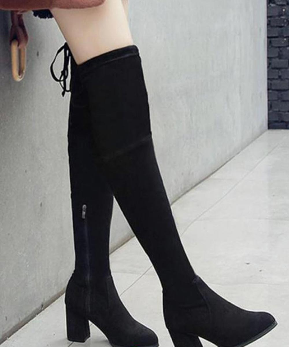 The blonde abroad knee high boots