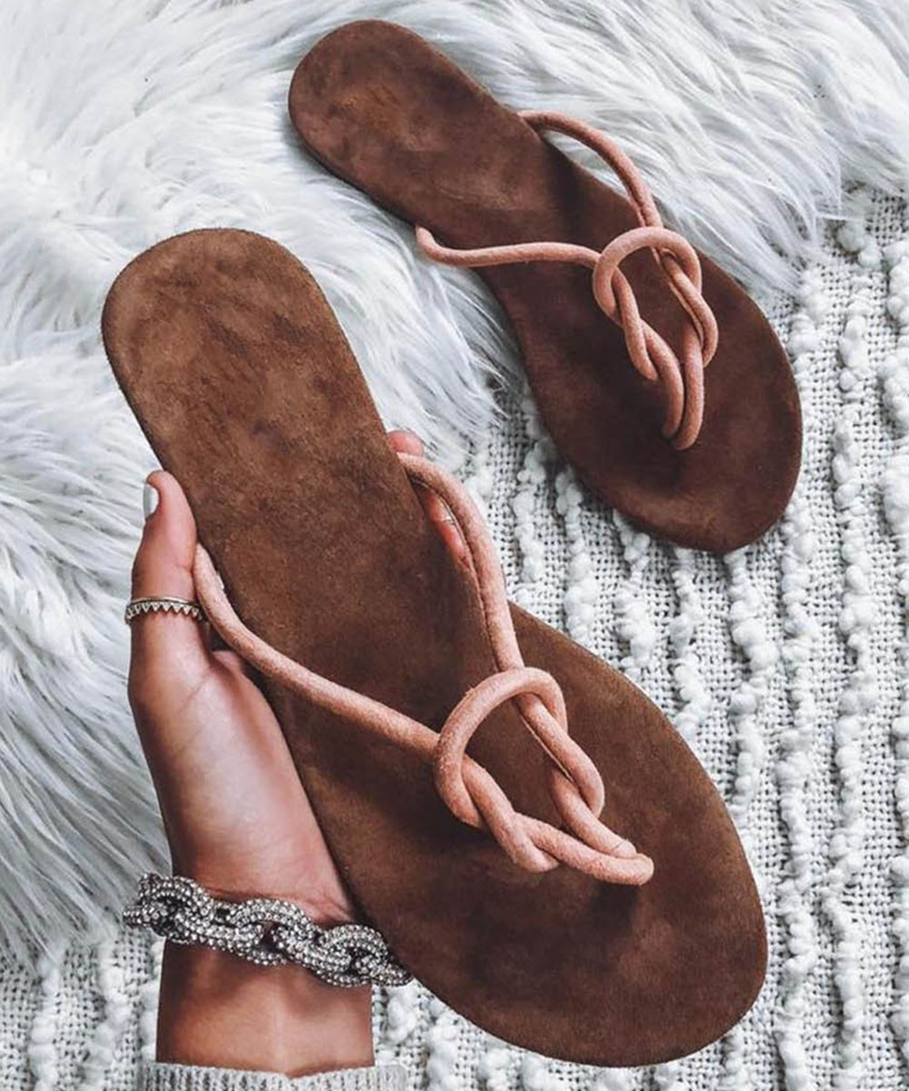 Ready for vacay flats Coffee Brown