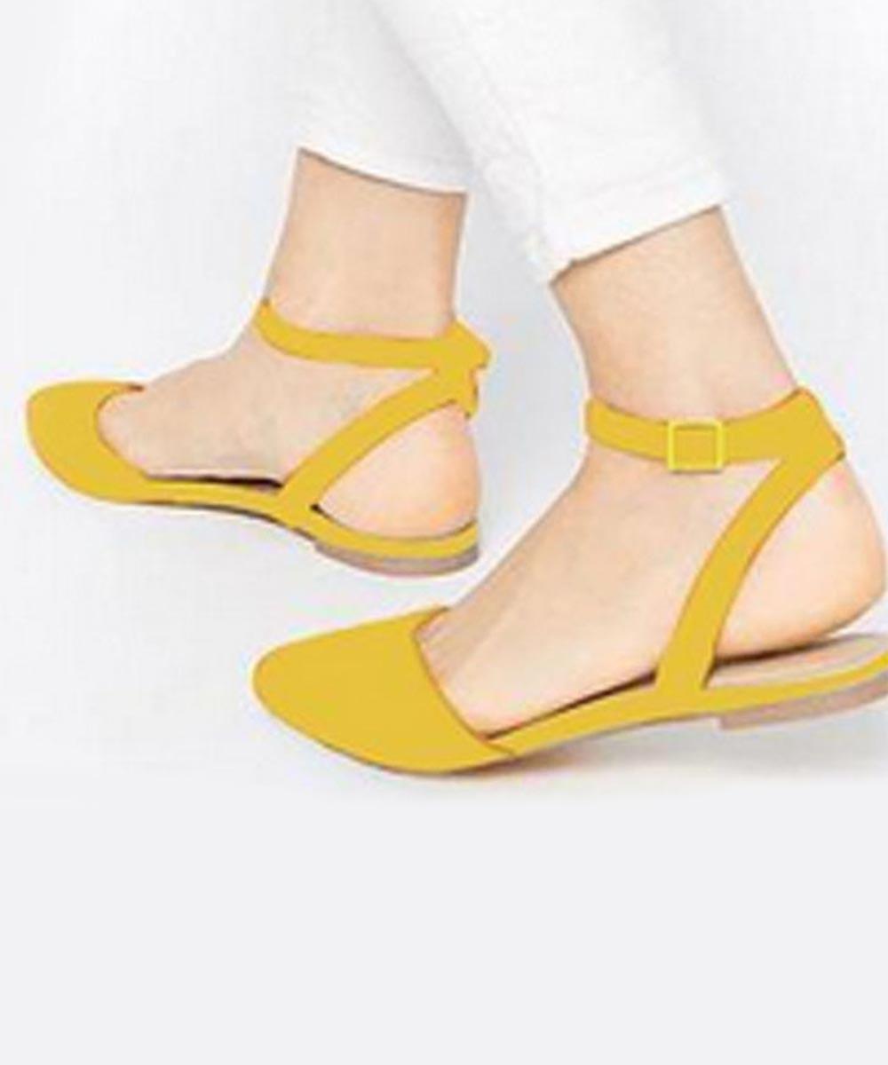 Summer Pop Flats-Yellow