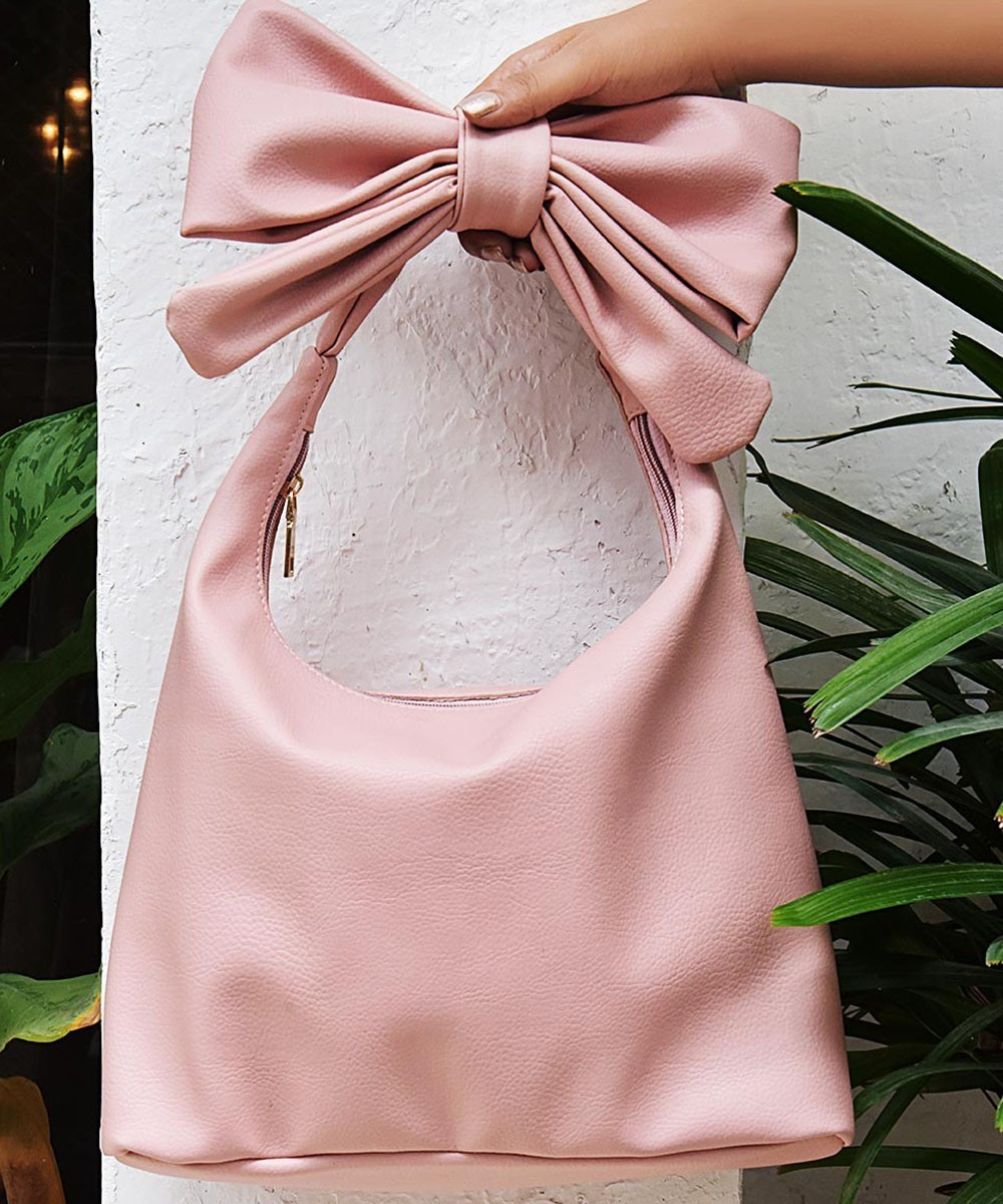 Bow to show bag pink