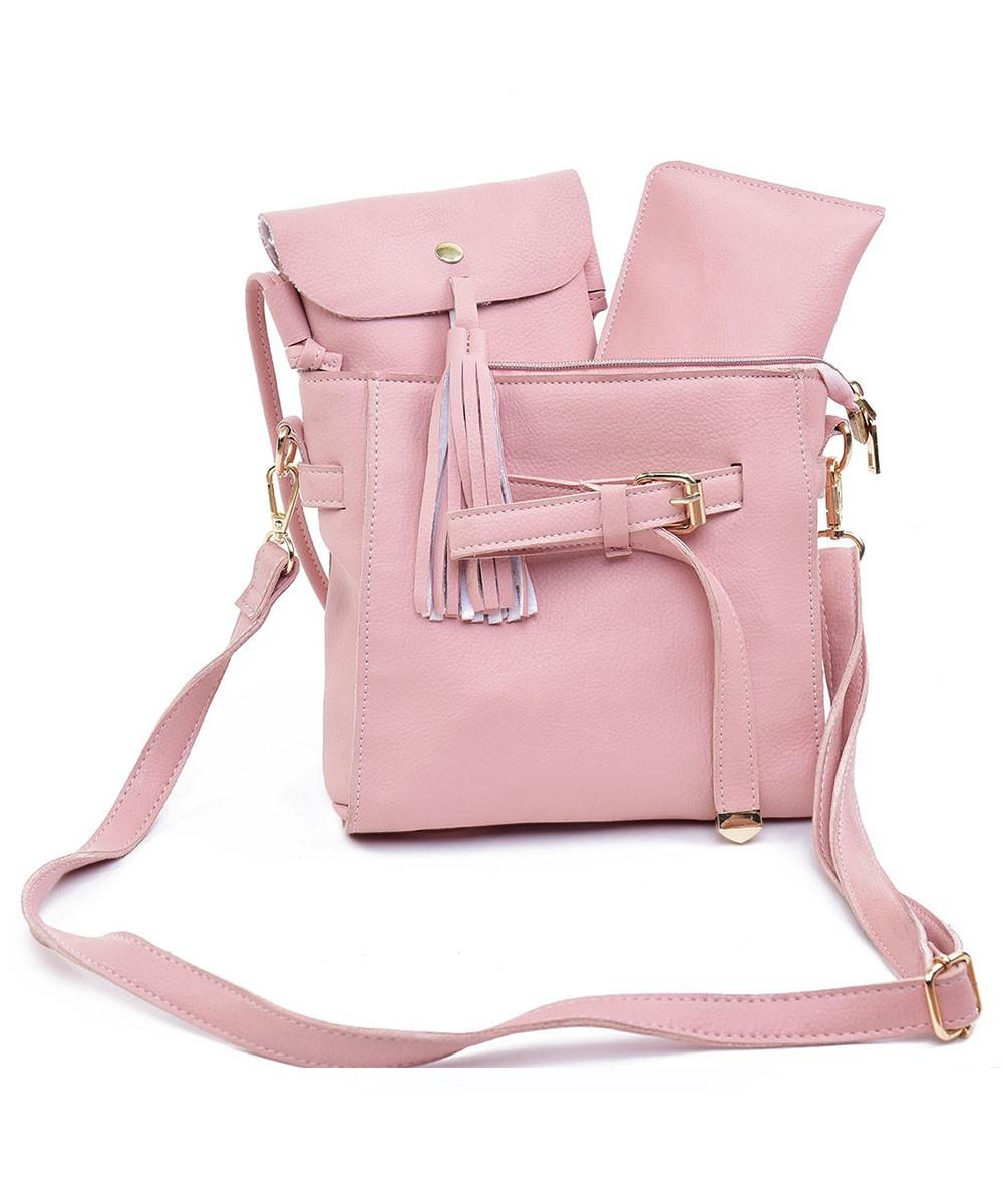 Set of 3 - Sunday Funday bag Pink