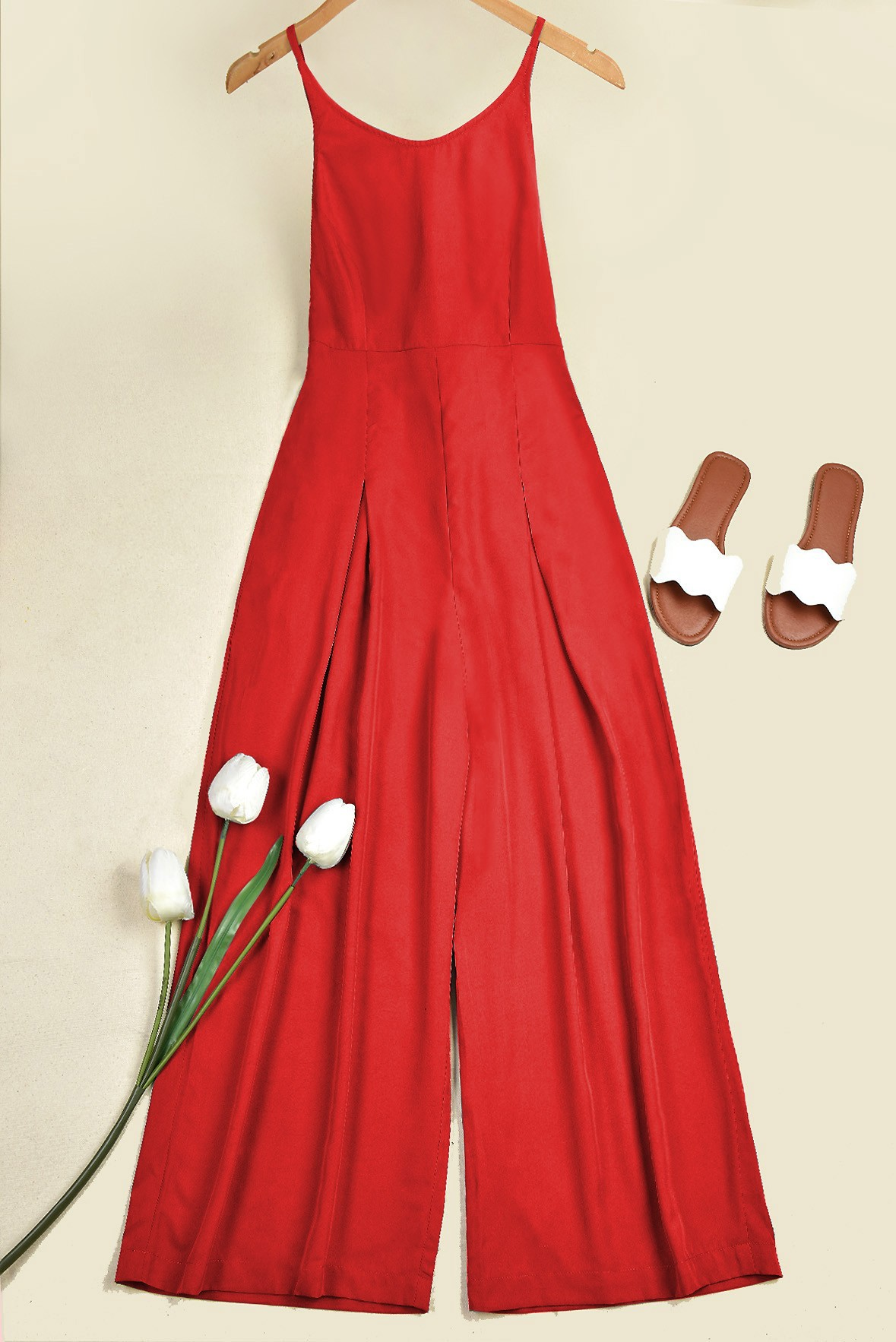 Star on the Rise Jumpsuit Red