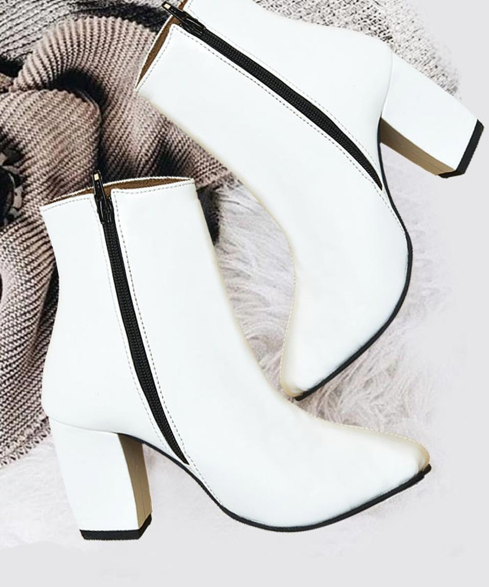 Cannot Stop My Walk Boot White   Street Style Store