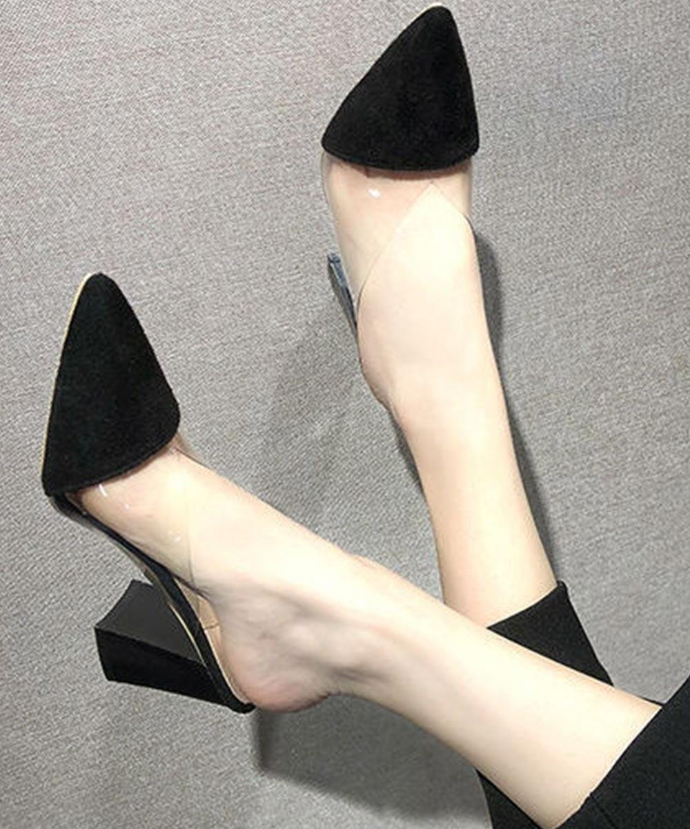 Blissful workwear block heels Black