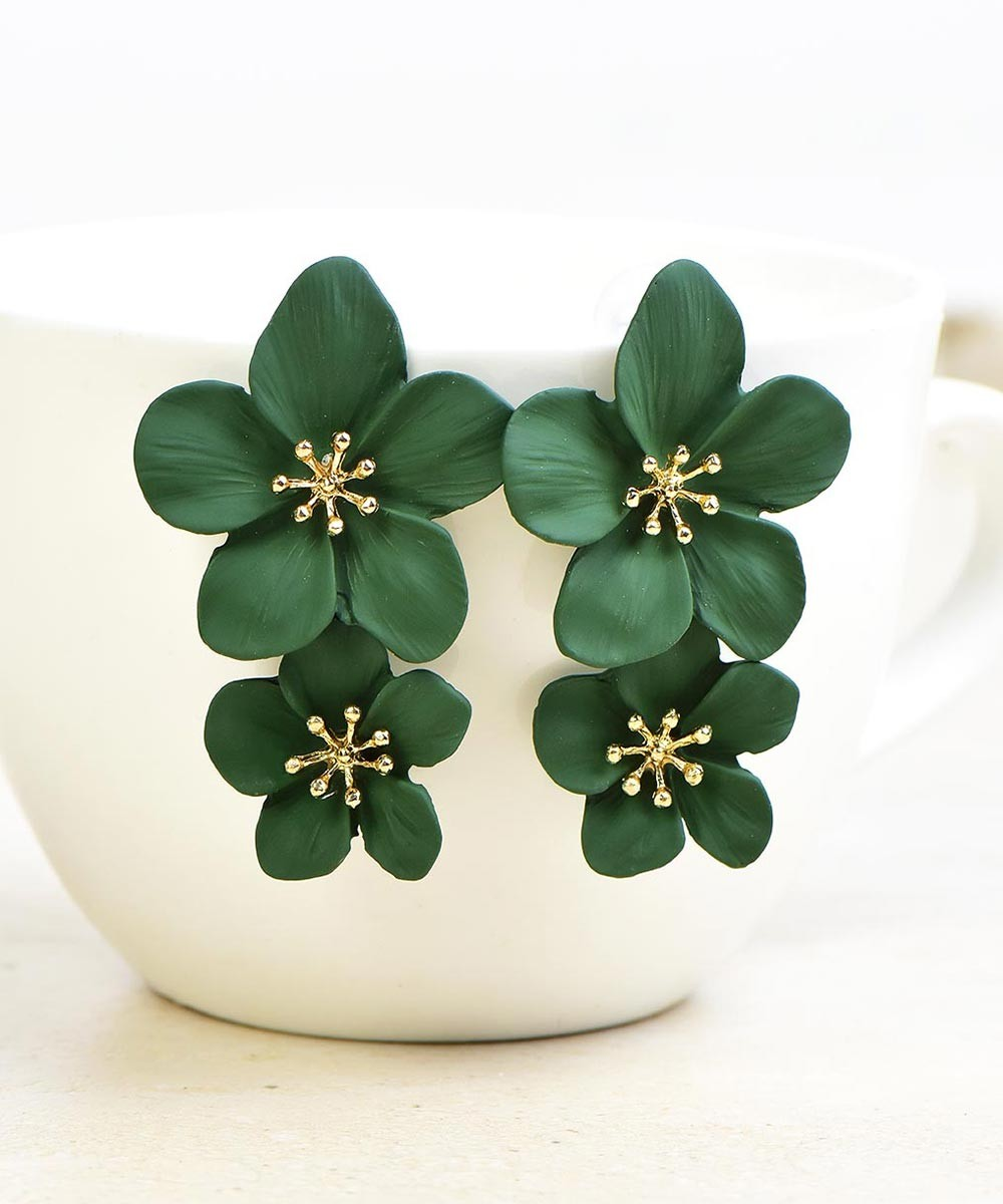 In Style Earrings Green