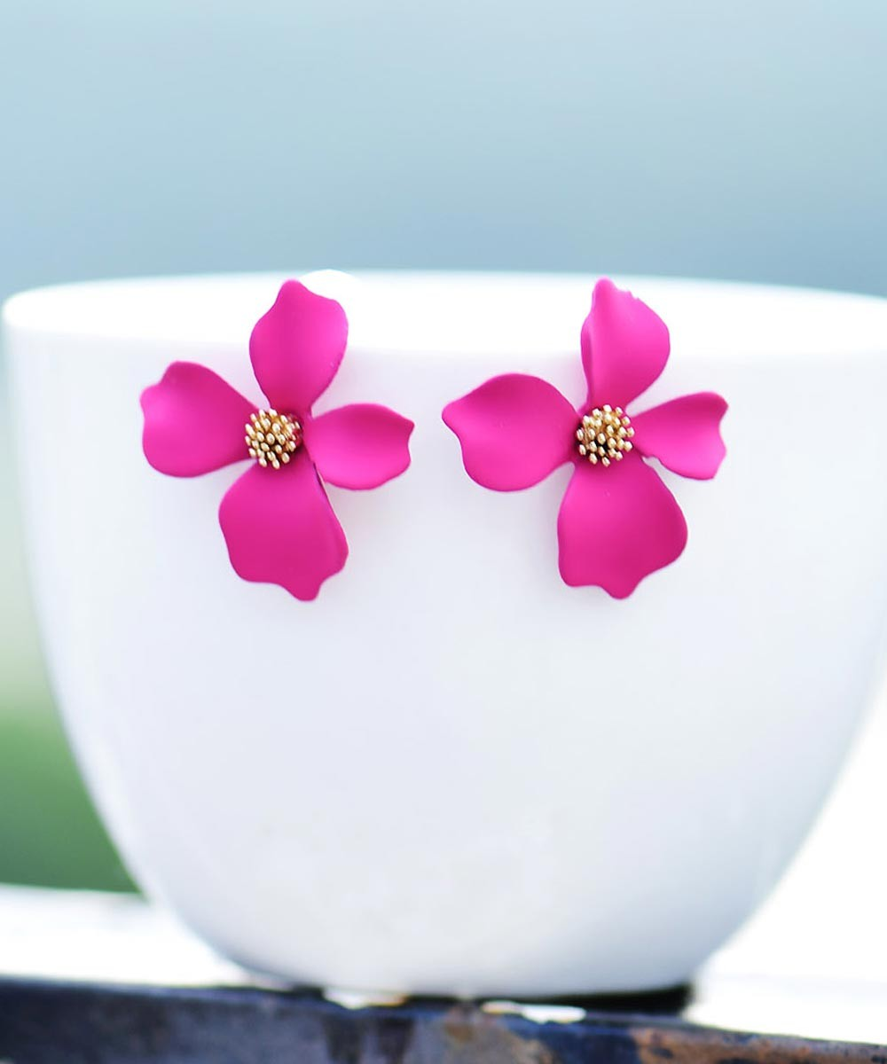 Flourish me earrings pink